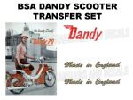 BSA Dandy 70 Scooter Transfer Decal Set
